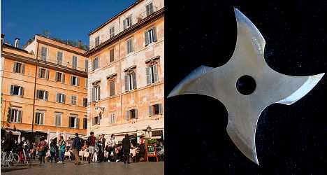 'Black Count' in Rome ninja star attack