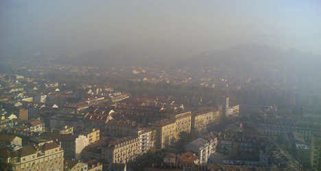 Turin residents most at risk of deadly pollution