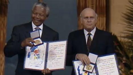 Mandela was 'one of the greatest': Nobel heads