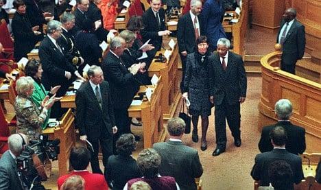 Mandela's 1999 speech in Sweden's Riksdag
