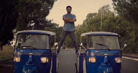 Rome 'grocer' parodies Van Damme Volvo ad