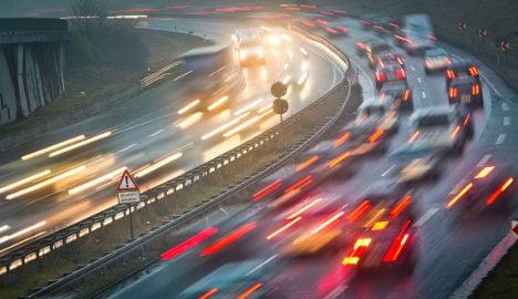 Parked car rolls 200 metres onto motorway