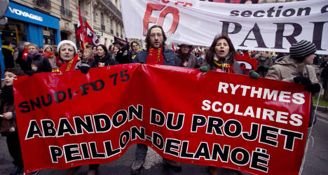 French schools close as teachers stage walkout