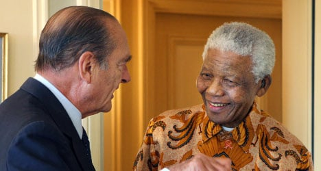 IN PICTURES: Nelson Mandela and France