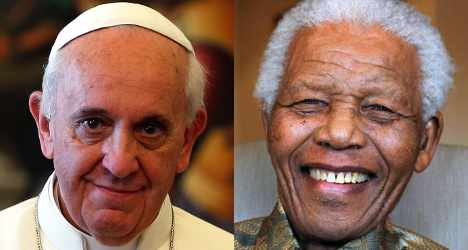 Pope Francis pays tribute to Nelson Mandela