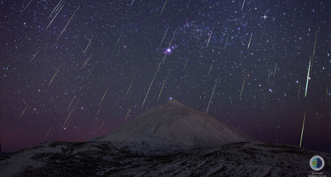 Pic of the day: Stunning Canary meteor shower