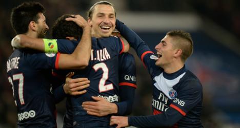 Ibrahimovic double keeps PSG flying high