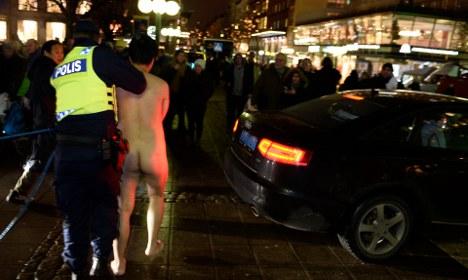 Naked protesters mar Nobel awards ceremony