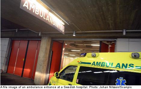 Swedish man sent home with broken neck