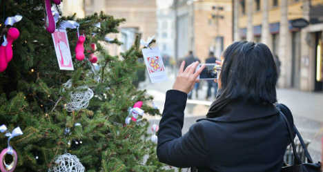 Milan's 'dildo' Christmas tree sparks uproar