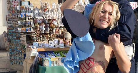 Femen leader arrested for Vatican stunt
