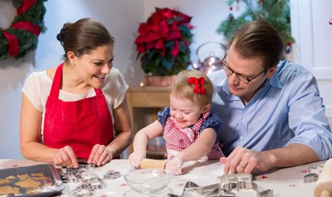 Swedish princesses in 'sweet' Christmas video