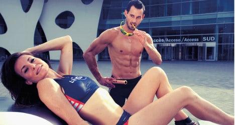 Spanish athletes pose for sexy calendar