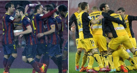 Barça and Atlético reign in Cup quarters