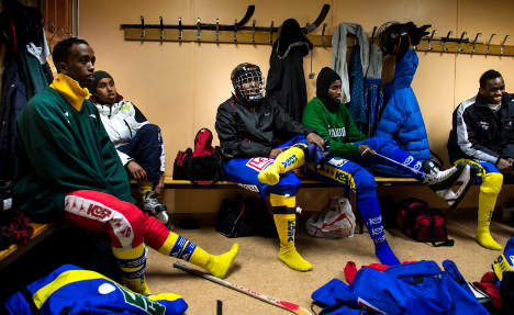 Germany slams Swedish Somali bandy team