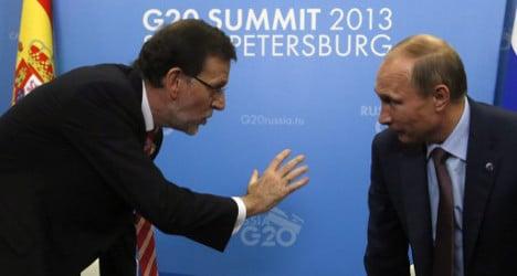 Putin slams Spain's human rights record