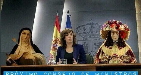 'Saint Teresa is helping Spain in crisis': Minister