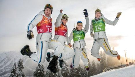Sweden win 'Bradbury bronze' after sprint chaos