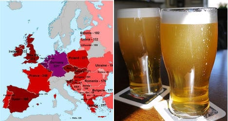 Beer price index makes sober reading for France