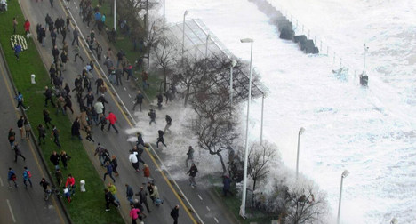 In Pictures: Tidal waves crush northern Spain