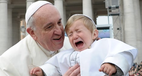 Photo of the day: Pope's mini-me weeps at Vatican