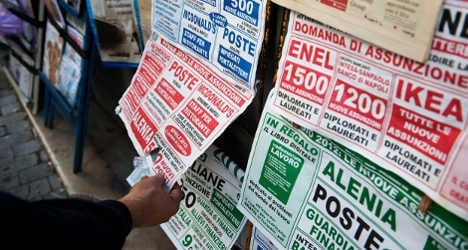 Italian jobless rate hits record 12.9 percent