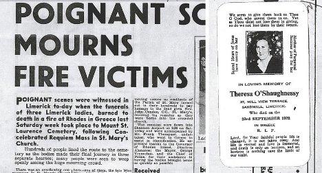 Irishman seeks to honour Swedish victims of deadly 1972 Greece fire