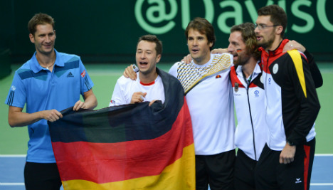 Germany claims Davis Cup last eight spot