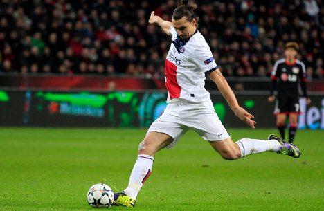 Zlatan scores two in Champions League rout