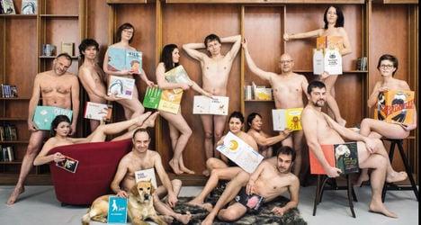 Naked protest: Literary world mocks politician