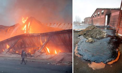 Malmö factory fire spills 'molten lava' sugar