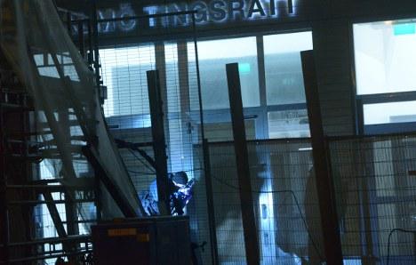 Mystery blast rocks Malmö courthouse