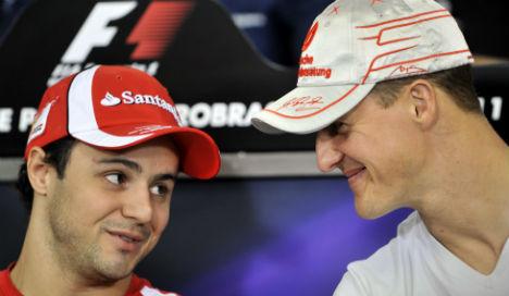 Schumacher showing 'responses' says Massa