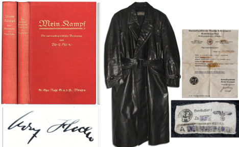 'Mein Kampf' signed by Hitler to be auctioned