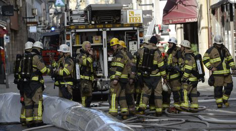 Restaurant blaze smokes out central Stockholm