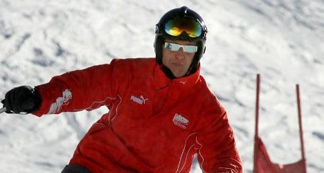 Schumacher shows 'encouraging signs'