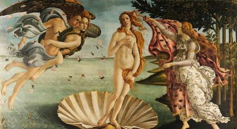 Spaniard strips in front of Italian masterpiece