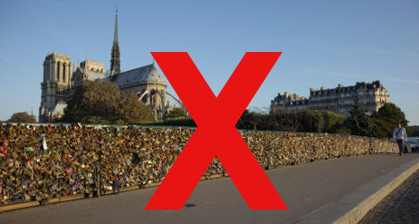 'Love locks have made Paris a visual cesspool'