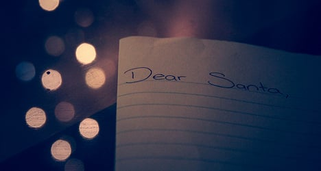 Businessmen baffled by mystery Dear Santa note
