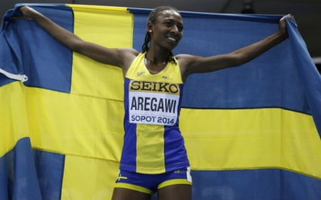 Swede Aregawi wins race and asks for privacy