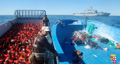 Italian navy saves dozens of boat migrant children