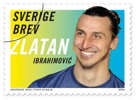 Swedes ready to lick Zlatan as stamps launch