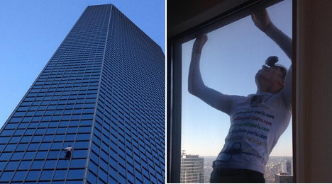 Paris: French 'spiderman' scales 186m skyscraper