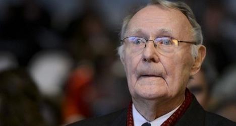 Ikea founder leaves Switzerland for Sweden
