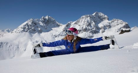 Skiing meshes with yoga on St. Moritz piste