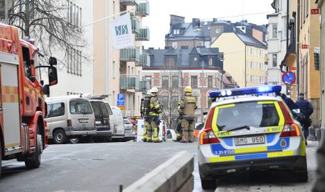 Bomb scare clears central Stockholm street