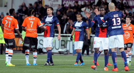 PSG maintain title march against valiant Lorient