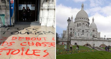 'F**k tourism': Graffiti attack at Sacré Coeur