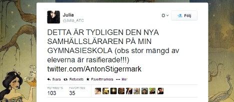 Sweden Dem teacher let go after student revolt