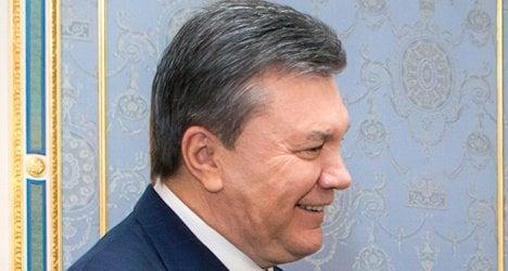 Swiss freeze assets of Yanukovych's entourage